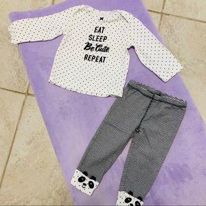 Carter's Baby Girls 2-Pc. Long sleeve & Pants Set